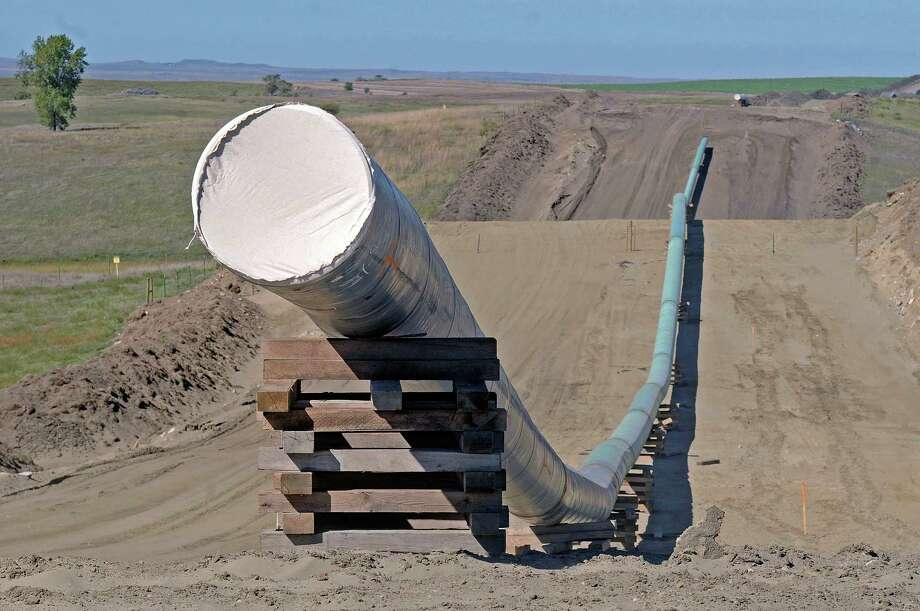 This section of the Dakota Access Pipeline was under construction this fall near St. Anthony, N.D.  Photo: Tom Stromme, MBO / The Bismarck Tribune
