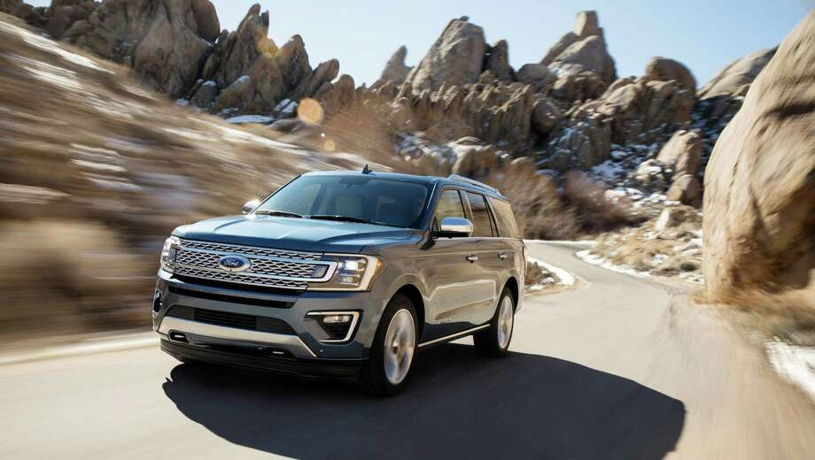 This photo provided by Ford Motor Company shows the 2018 Ford Expedition. Ford says the 2018 Ford Expedition is 300 pounds lighter than the previous model thanks to a new aluminum body and a high-strength steel frame. (Ford Motor Company via AP) Photo: HONS / Ford Motor Company