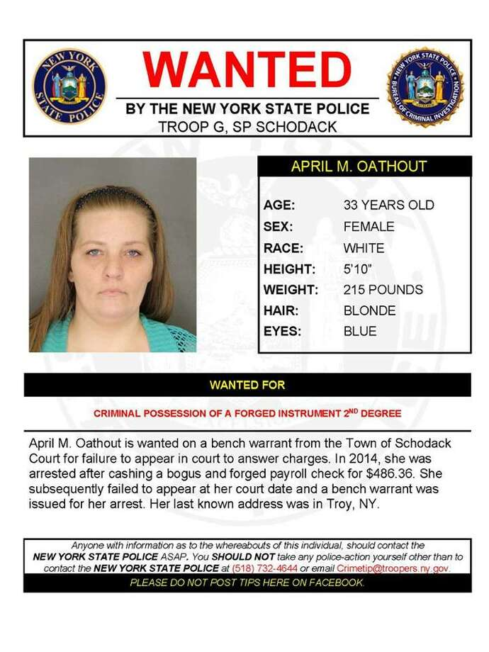 Warrant Wednesday: State Police seek Troy forgery suspect - Times Union
