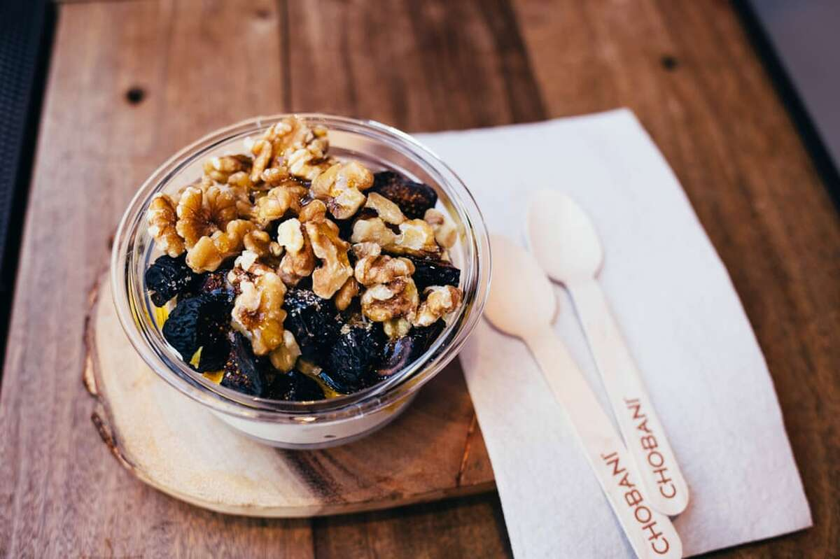 Chobani, the Greek yogurt brand, is opening a Chobani Café (its first outside of New Yok) at the new Walmart store in the Woodlands, 25800 Kuykendahl Road. It is scheduled to open Feb. 28. Shown: Chobani yogurt dishes from the New York café.