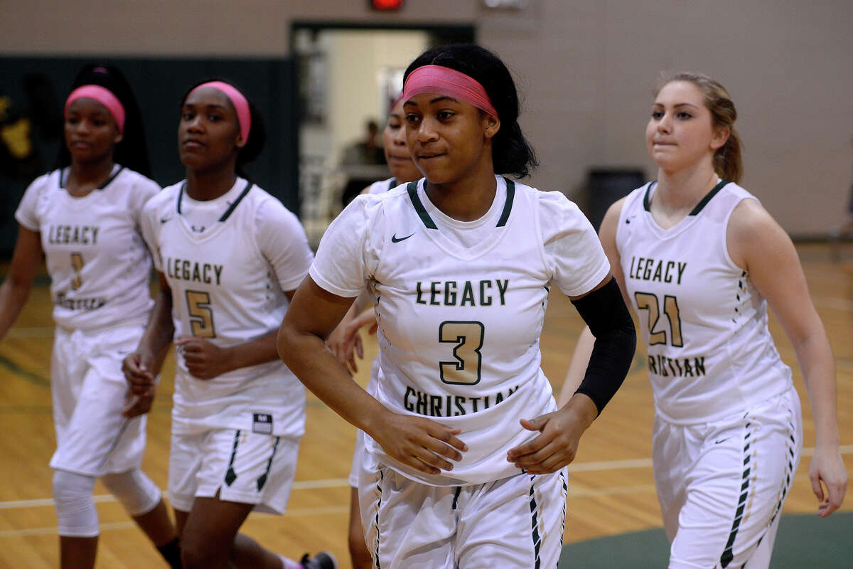 Legacy Christian Academy's Alexis Morris prepares to play in her final home game against Rosehill Christian on Tuesday evening. Morris, a McDonald's All-American, will play college basketball at Baylor. Photo taken Tuesday 2/7/17 Ryan Pelham/The Enterprise