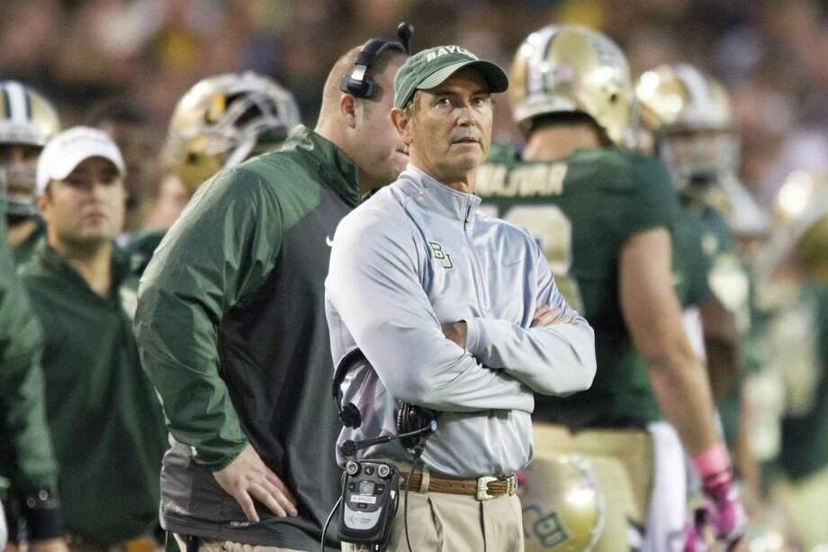 Former Baylor coach Art Briles looks on against the Iowa State Cyclones on Oct. 19, 2013 at Floyd Casey Stadium in Waco. Photo: Cooper Neill /Getty Images / 2013 Cooper Neill