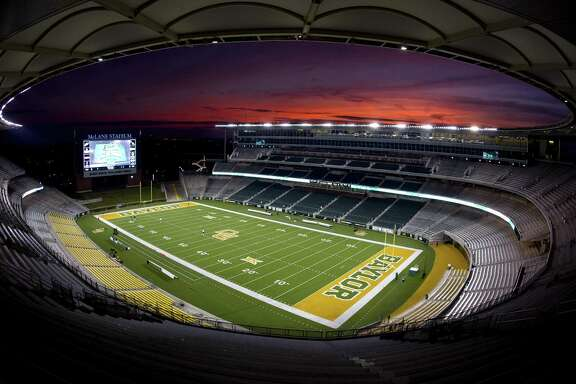 The sun sets on Baylor's McLane on Nov. 26, 2016, in Waco.