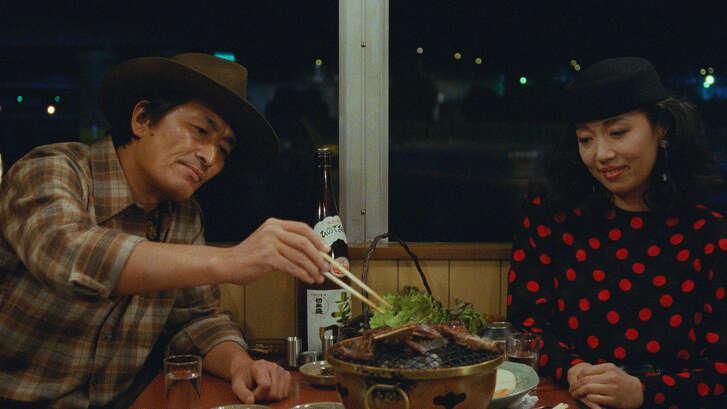 """Ken Watanabe and Nobuko Miyamotostar in Juzo Itami's 1985 film """"Tampopo,"""" which screens Saturday at 14 Pews."""