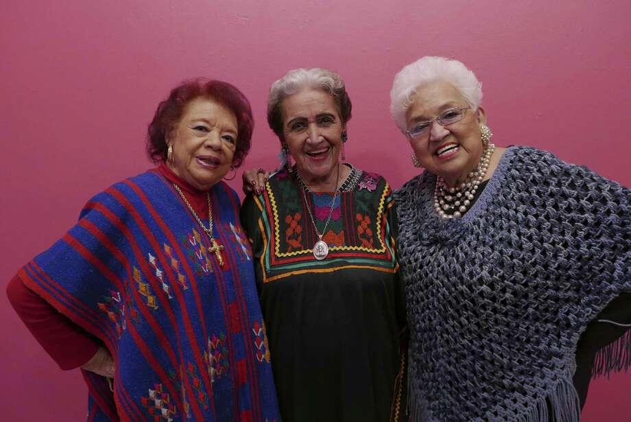 Legendary golden age ranchera singers Beatriz Llamas (left), Rita Vidaurri and Blanca Rodriguez will take part in Paseo Por El Westside on Saturday. Photo: Express-News File Photo / San Antonio Express-News