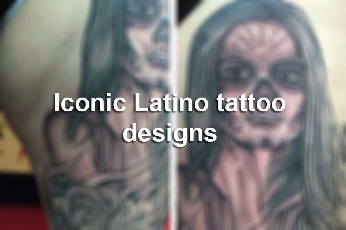 Keep clicking to see some of the most iconic tattoo designs inspired by Latino culture.