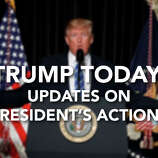 Click through to see previous Trump Today items and updates on the president's actions so far.