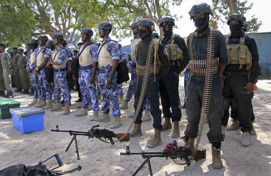 Soldiers secured the capital, Mogadishi, during presidential elections won by Mohamed Abdullahi Farmajo. He had lived in the U.S. off and on since 1985. Photo: Farah Abdi Warsameh, Associated Press