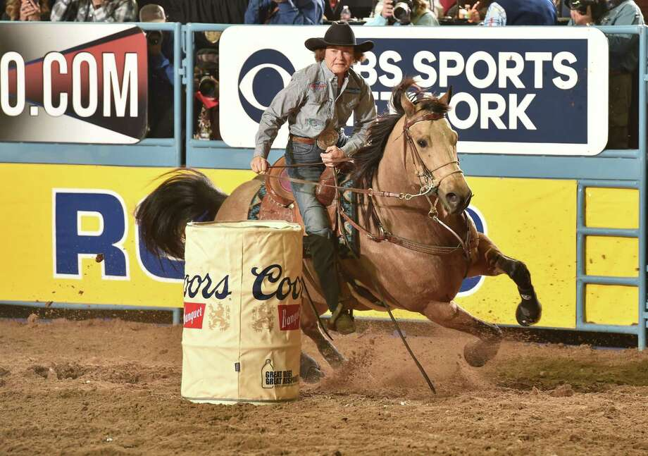 Barrel racer Mary Burger competes during a 2016 Women's Professional Rodeo Association event. Photo: Dan Hubbell /Women's Professional Rodeo Association