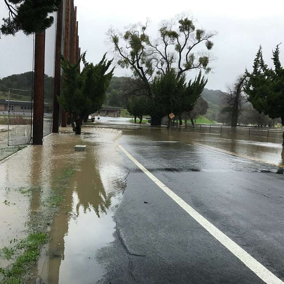 Police and firefighters evacuated 22 people from the Meadows restaurant at  the Redwood Canyon Golf Course on Tuesday afternoon when the above roadway became flooded with swollen creek water.