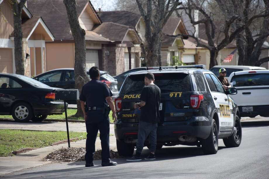 Multiple suspects were taken into custody and more people were being sought by the SAPD after a home invasion in the city's far West Side. Photo: Caleb Downs