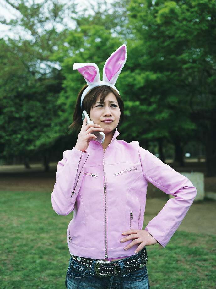 A Match.com study found that having an outdated cell phone made you 56 percent less likely to get a date. The bunny ears probably don't help either. Photo: Zen Sekizawa, Getty Images