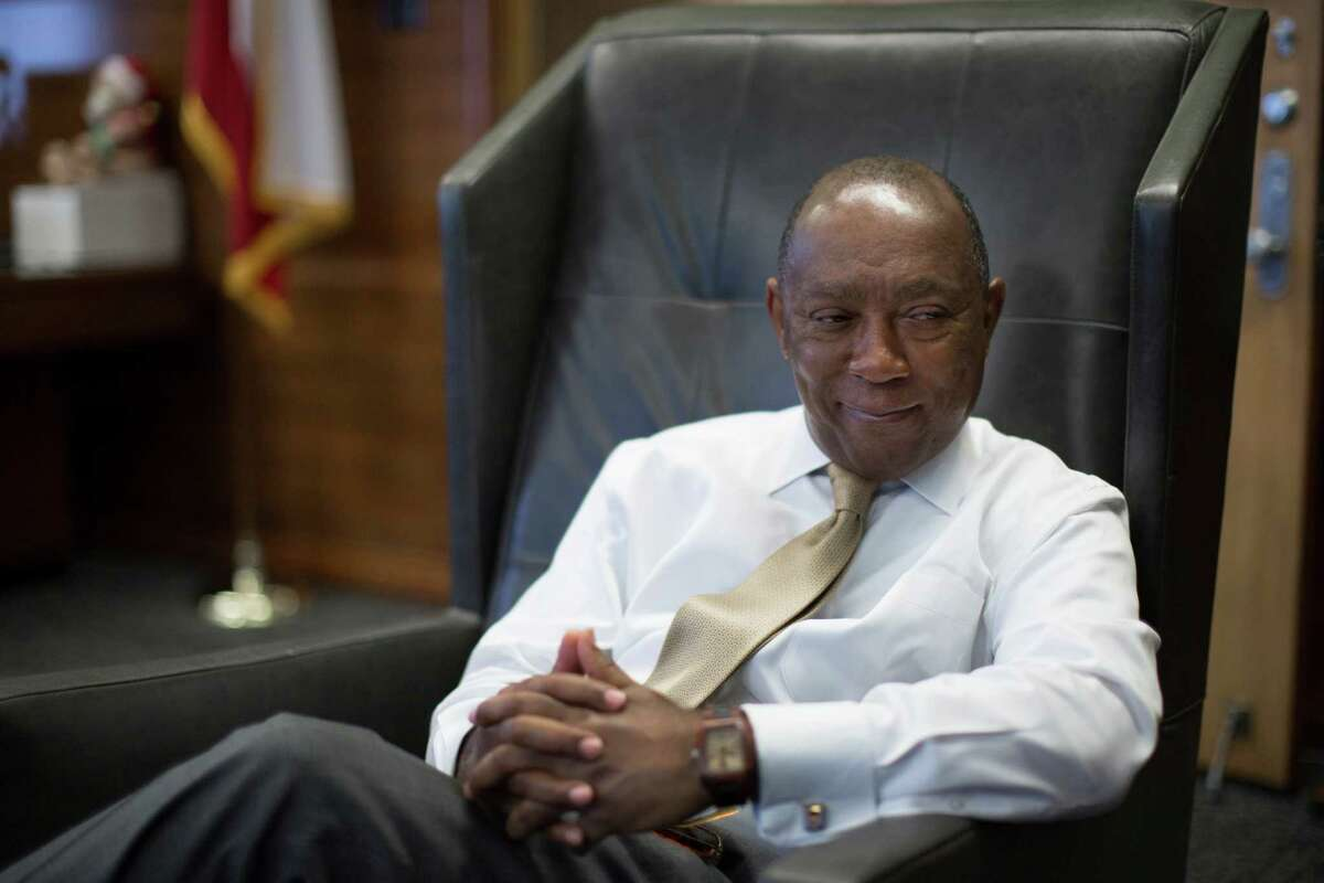 Mayor Sylvester Turner reinforces his position that Houston will remain a welcoming city. Tuesday, Feb. 7, 2017, in Houston.