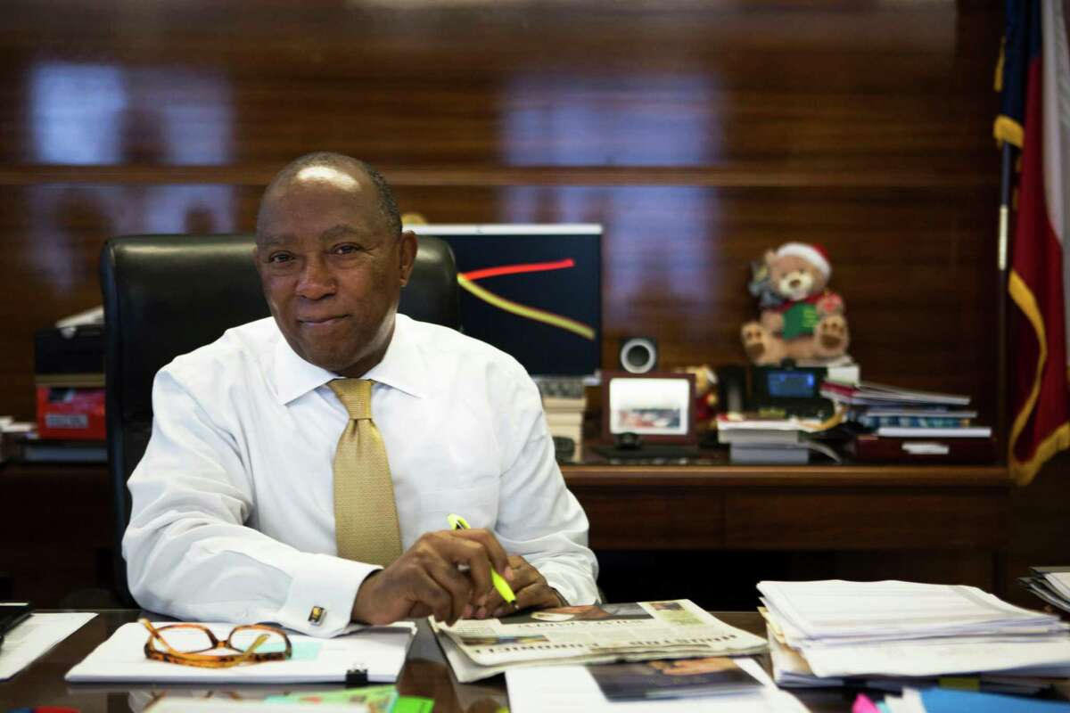 """""""Mi casa es su casa,"""" said Mayor Sylvester Turner assuring that Houston will remain a welcoming city. Tuesday, Feb. 7, 2017, in Houston."""