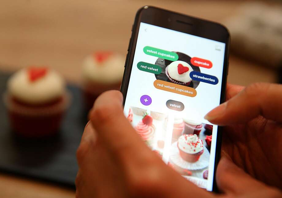 Pinterest announced new features Tuesday, including a product search based on images taken by the user. The new improvements to Lens is meant to allow users to search for recipes based on a photo of a whole dish, rather than just individual food items. Photo: Liz Hafalia / The Chronicle 2017