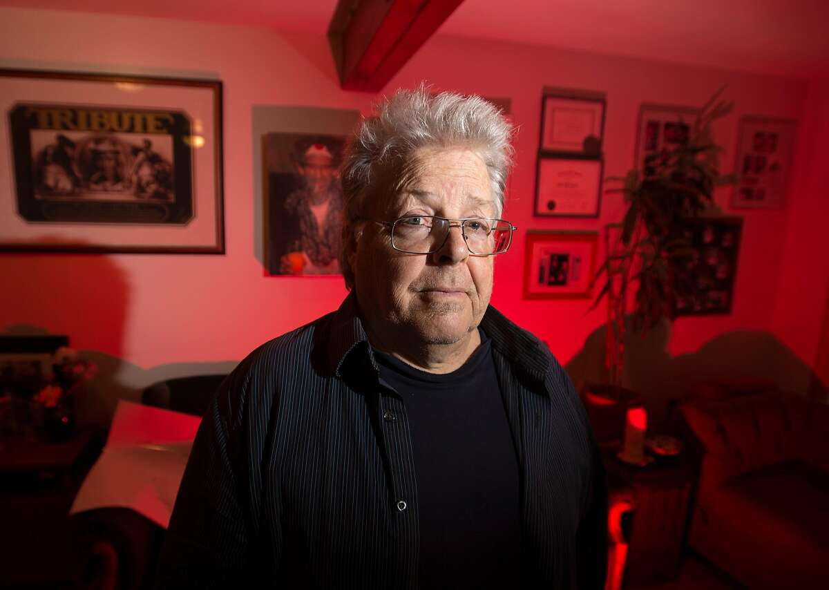 Boots Hughston, promoter for the 50th Anniversary Summer of Love Concert in Golden Gate Park, poses for a portrait at his home in Mill Valley, California on February 08, 2017. After nine months of work preparing for the concert, he was turned down for a permit from the city of San Francisco.