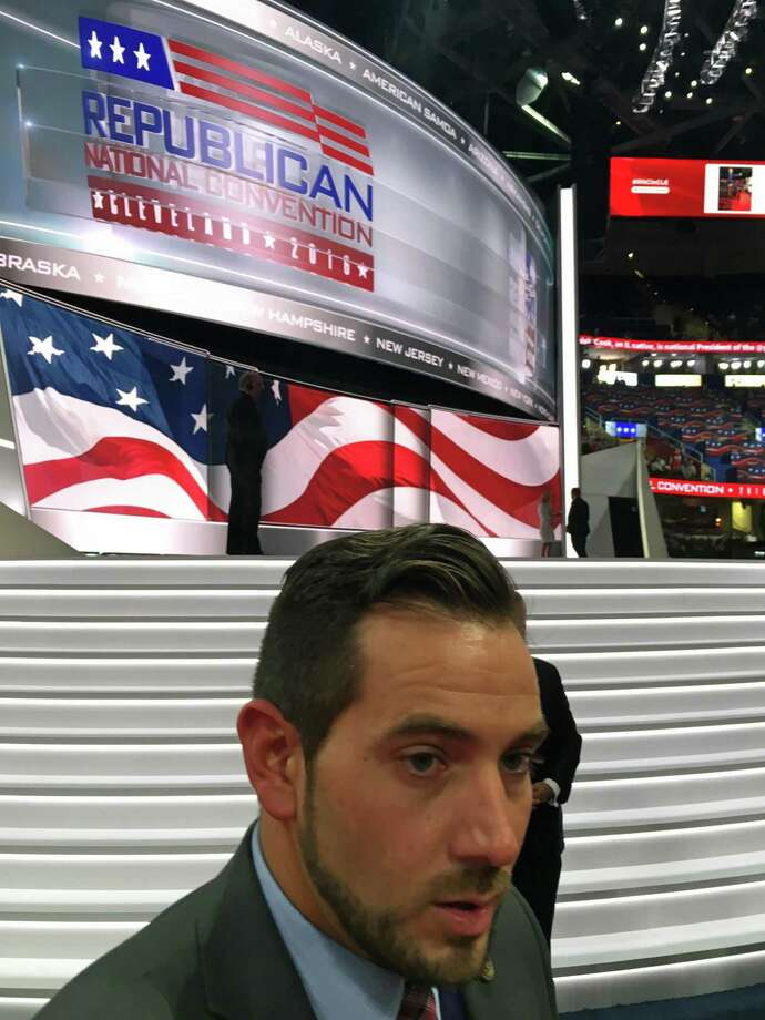 State GOP Chairman J.R. Romano is shown at the Republican National Convention in Cleveland on Monday, July 18, 2016. Photo: Neil Vigdor / Hearst Connecticut Media / Connecticut Post