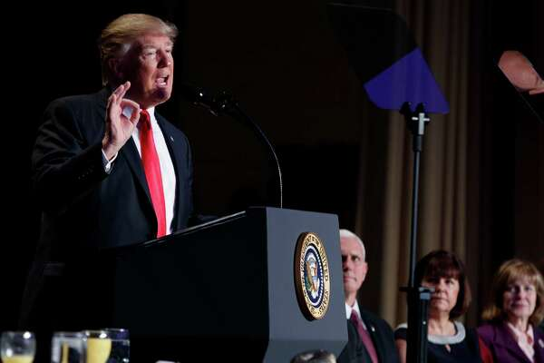 At the National Prayer Breakfast, Trump com- plimented the chaplain for his prayer, as if it were a performance.