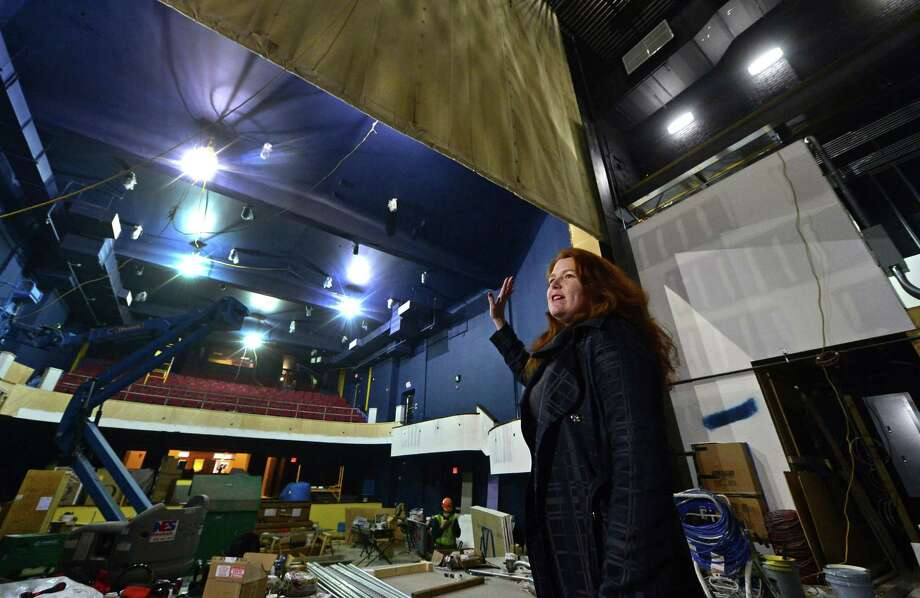 President Suzanne Cahill leads a tour of the newly renovated Wall Street Theater, formerly The Globe Theater, February 7, 2017, in Norwalk, Conn. The Wall Street Theater is issuing a call to area bands and musicians interested in participating in the Theaters inaugural concert series, planned to begin summer 2017. These concerts are designed to promote awareness of the revitalized Wall Street Theater and is open to all musical genres including rock, blues, jazz, soul, R&B, alternative, reggae, funk, rap, folk, country, electronic, classical, pop, dance, and singer/songwriter. Photo: Erik Trautmann / Hearst Connecticut Media / Norwalk Hour