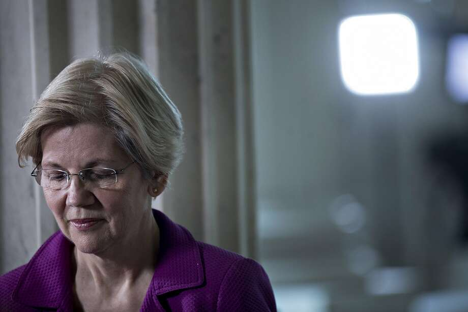 Senator Elizabeth Warren on Feb. 8, the day after Republicans invoked a little-used rule to stop her reading a letter from Coretta Scott King. Photo: Andrew Harrer, Bloomberg