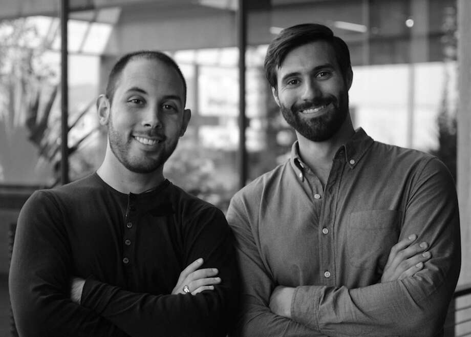 """Pixar employees Lou Hamou-Lhadj (left) and Andrew Coats worked overtime to make their Oscar-nominated short, """"Borrowed Time."""""""