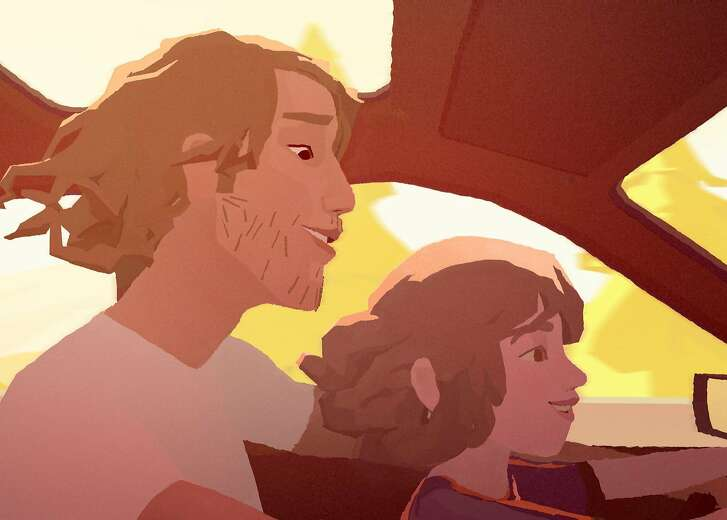 "No wrong way home A song (by San Francisco's Alexis Harte) traces a father and daughter's relationship in the virtual reality short, ""Pearl,"" made by Oscar winner Patrick Osborne at Google's ATAP facility. It's nominated for best animated short this year.  Credit: Patrick Osborne"