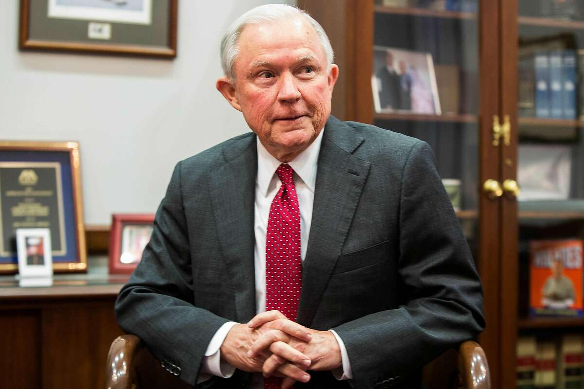 (FILES) This file photo taken on November 29, 2016 shows Sen. Jeff Sessions (R-AL) during a meeting with Sen. Chuck Grassley (R-IA) discussing Sen. Sessions's nomination for US Attorney General on Capitol Hill in Washington, DC. Tensions over confirming President Donald Trump's cabinet nominees erupted late February 7, 2017 in the US Senate, where a lawmaker's criticism of attorney general pick Jeff Sessions led to the very rare reprimand of a senator. A confirmation vote for Sessions as attorney general is expected for February 8, 2017. / AFP PHOTO / ZACH GIBSONZACH GIBSON/AFP/Getty Images