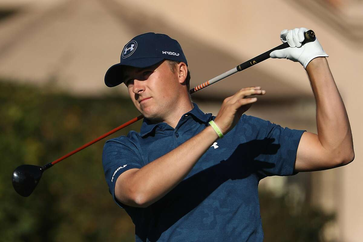 SCOTTSDALE, AZ - FEBRUARY 05: Jordan Spieth plays a tee shot on the second hole during the final round of the Waste Management Phoenix Open at TPC Scottsdale on February 5, 2017 in Scottsdale, Arizona. (Photo by Christian Petersen/Getty Images)