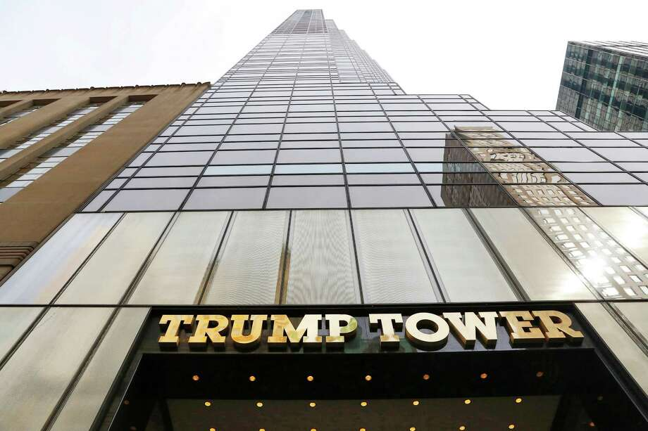FILE - In this March 16, 2016 file photo, Trump Tower is seen in New York. The U.S. military is looking to rent space at Trump Tower for use when President Donald Trump returns to his longtime home in New York City. (AP Photo/Mark Lennihan, File) Photo: Mark Lennihan, STF / Copyright 2016 The Associated Press. All rights reserved. This material may not be published, broadcast, rewritten or redistribu
