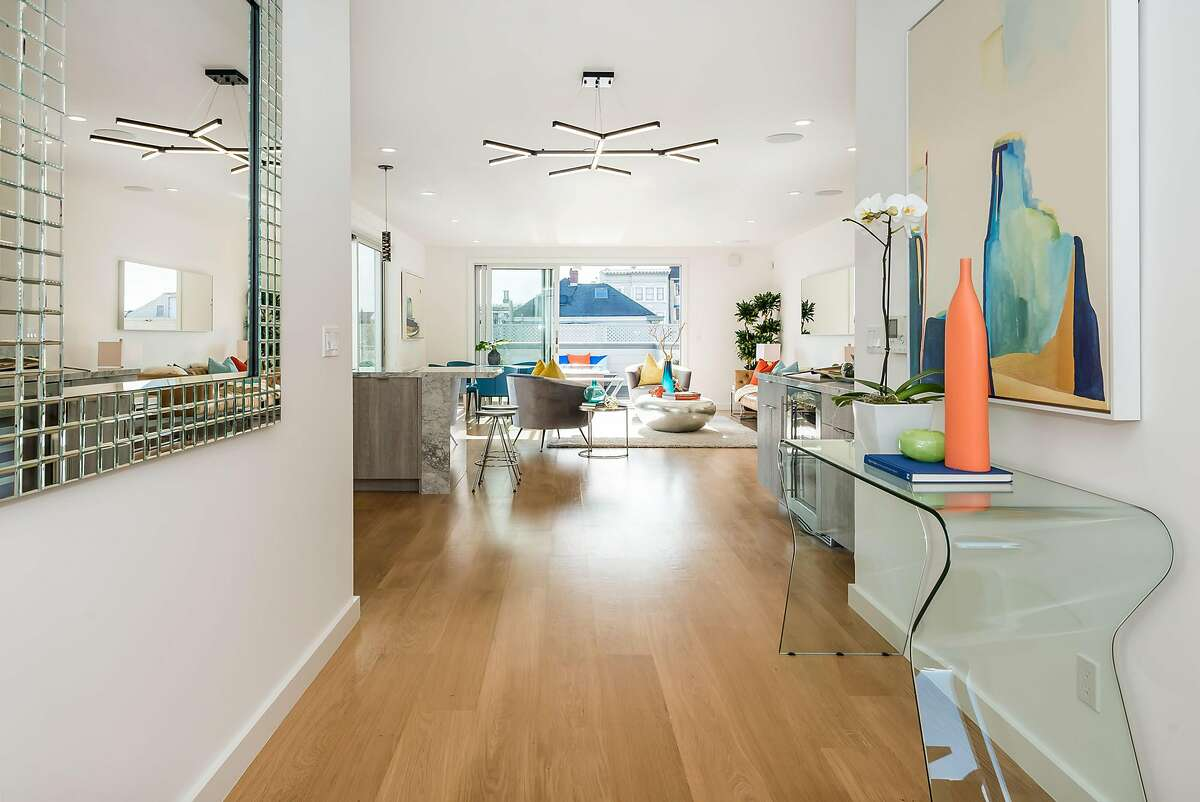 The two-bedroom penthouse offers roughly 1,500 square feet of living space.�