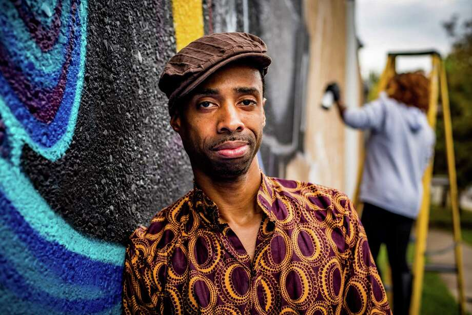 """The Alley Theatre is staging the world premiere of NSangou Njikam's """"Syncing Ink,"""" about the culture of words in hip-hop and black identity, during its annual new play festival. Photo: Courtesy Alley Theatre"""