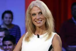 "FILE - This Dec. 1, 2016 file photo shows Kellyanne Conway prior to a forum at Harvard University's Kennedy School of Government in Cambridge, Mass. Media outlets are more aggressively fact-checking political statements. A separate fact check on Conway's false claim of a Bowling Green ""massacre"" on Thursday was the most-read story on the APNews.com web site Friday. (AP Photo/Charles Krupa, File)"