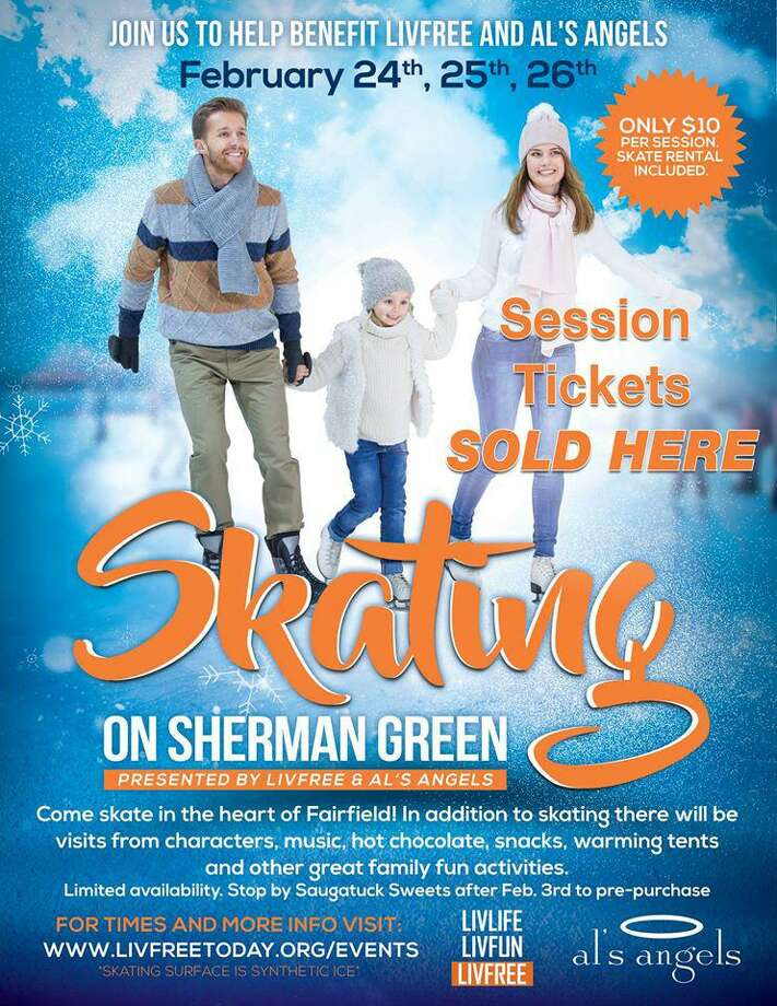Sherman Green will be the site of an ice skating rink later this month, all to help some local charities. Fairfield,CT. 2/9/17 Photo: Contributed / Contributed Photo / Fairfield Citizen