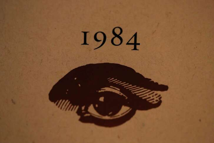 LOS ANGELES, CA - JANUARY 25:  A copy of George Orwell's novel '1984' sits on a shelf at The Last Bookstore on January 25, 2017 in Los Angeles, California. George Orwell's 68 year-old dystopian novel '1984' has surged to the top of Amazon.com's best seller list and its publisher Penguin has put in an order for 75,000 reprints.