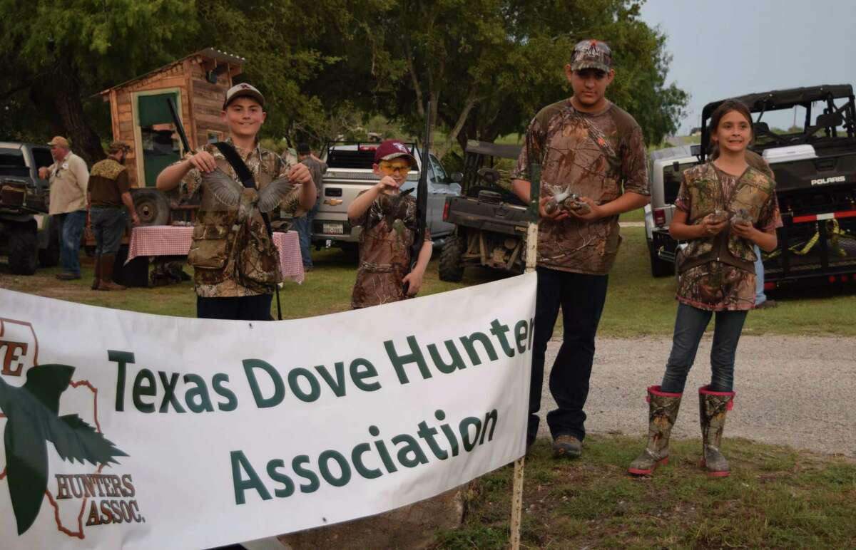Young hunters like these displaying doves they bagged during a Texas Dove Hunters Association youth hunt are among the beneficiaries of the group's scholarships initiatives.