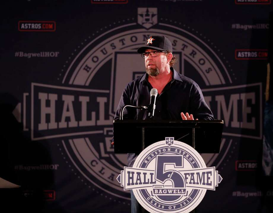 Jeff Bagwell will become the second player in the National Baseball Hall of Fame with an Astros cap on his plaque when he is inducted July 30 in Cooperstown, N.Y.Click through the gallery to see photos of Bagwell through the years. Photo: Karen Warren, Staff Photographer / 2017 Houston Chronicle