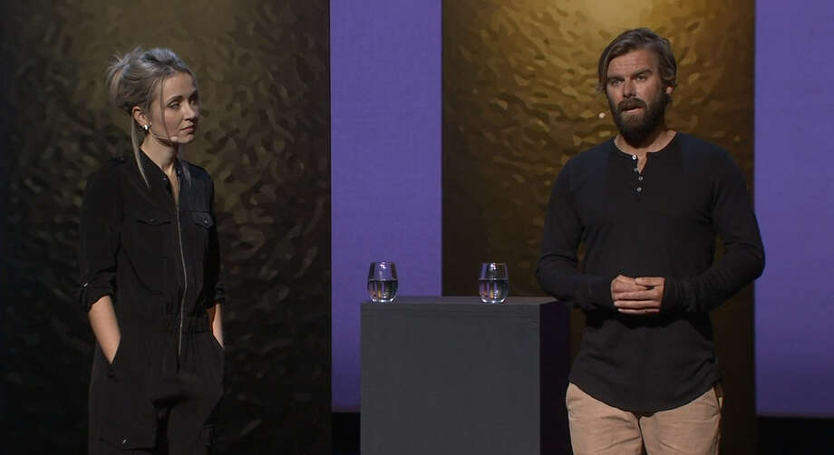 Over 20 years ago, Thordis was raped by Tom and now the pair has teamed up to write a book about their individual experiences and healing. Photo: Ted Talk Screenshot