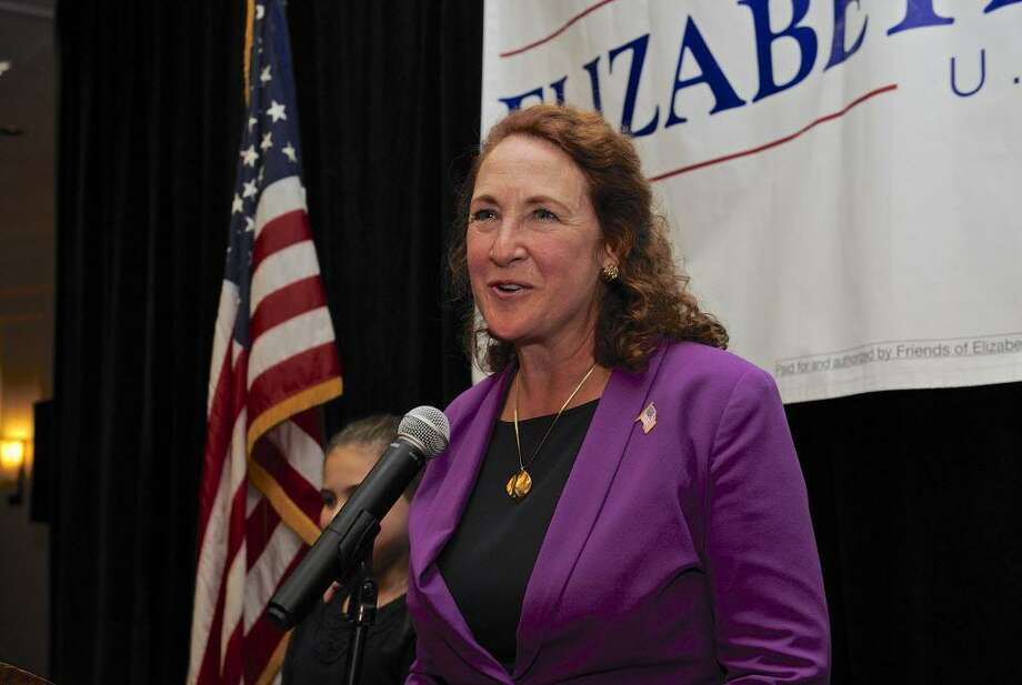 Congresswoman Elizabeth Esty, D-Conn, talks to her supporters in Waterbury election night, Tuesday, November 8, 2016, in Waterbury, Conn. Photo: H John Voorhees III / Hearst Connecticut Media / The News-Times