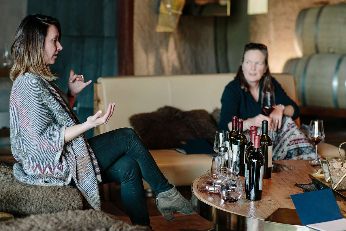 A tasting is held at Covert Estate in Napa on January 30, 2017.