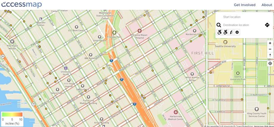 The Taskar Center's AccessMap allows users to customize their needs and map a better route through the city.