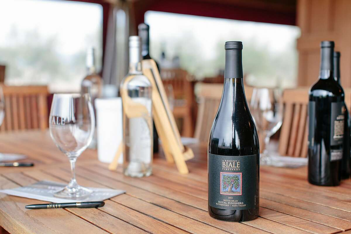 2013 Petite Sirah, Royal Punishers, Rutherford, Napa Valley, at Robert Biale Vineyards, in Napa, California, on February 1, 2017.