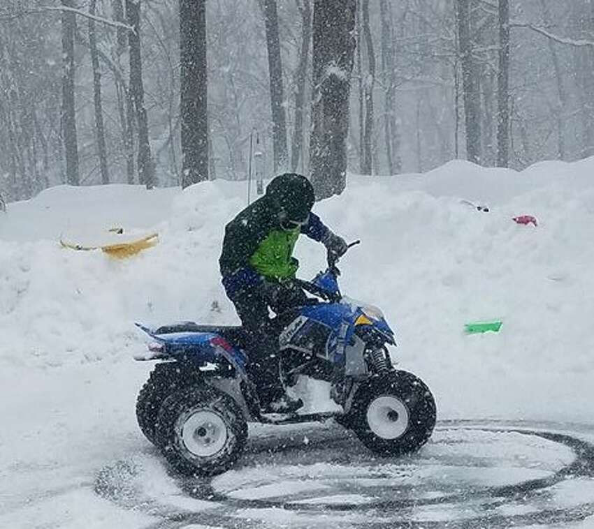 Snow day fun in Ridgefield, Conn., on Thursday, Feb. 9, 2017.