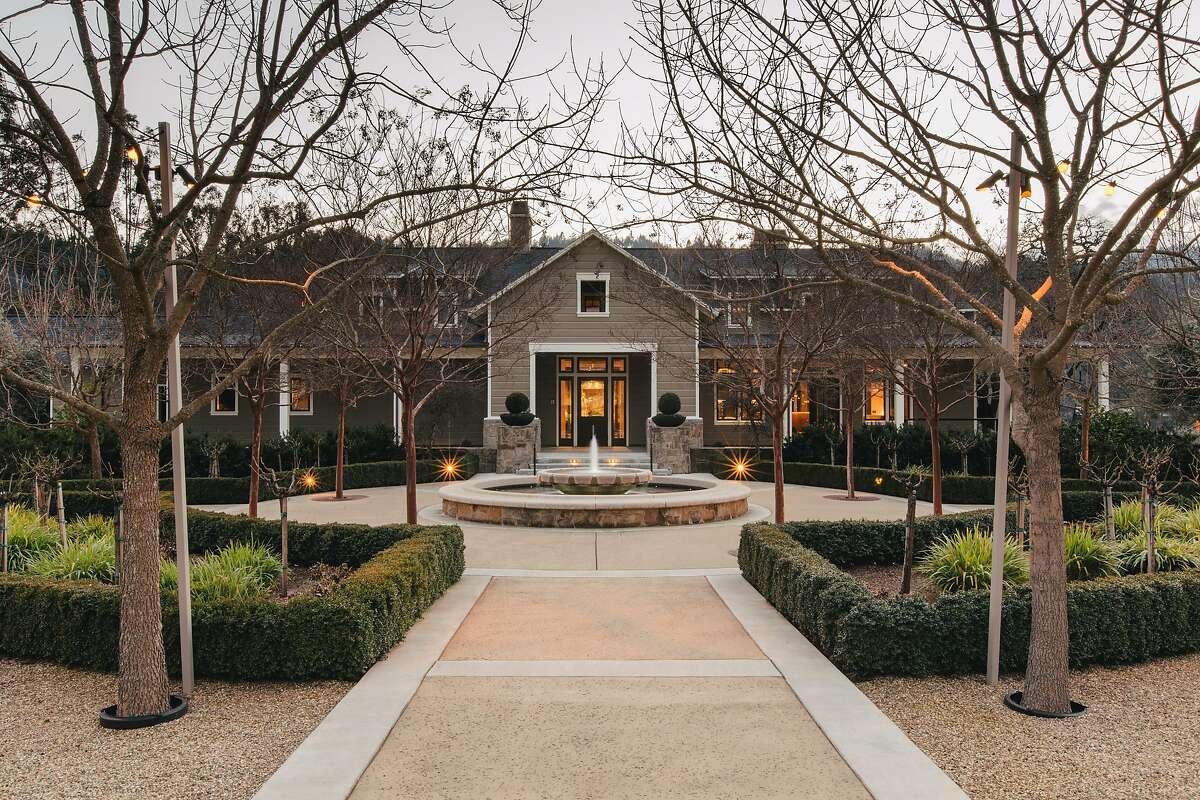 The courtyard at Trinchero Family Estates in St. Helena, California, on February 1, 2017.