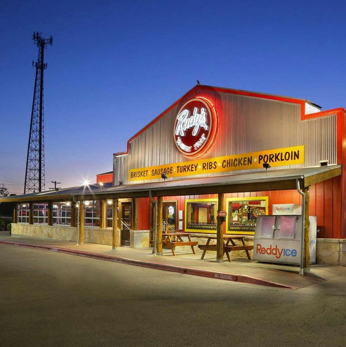 PHOTOS: Fun facts about Texas staple Rudy's Country Store and Bar-B-Q Travelers in Texas and four other states know Rudy's for its trademark brisket and sides. Find out a little bit more about this roadside destination. Click through to learn more about one of Texas' best BBQ chains...