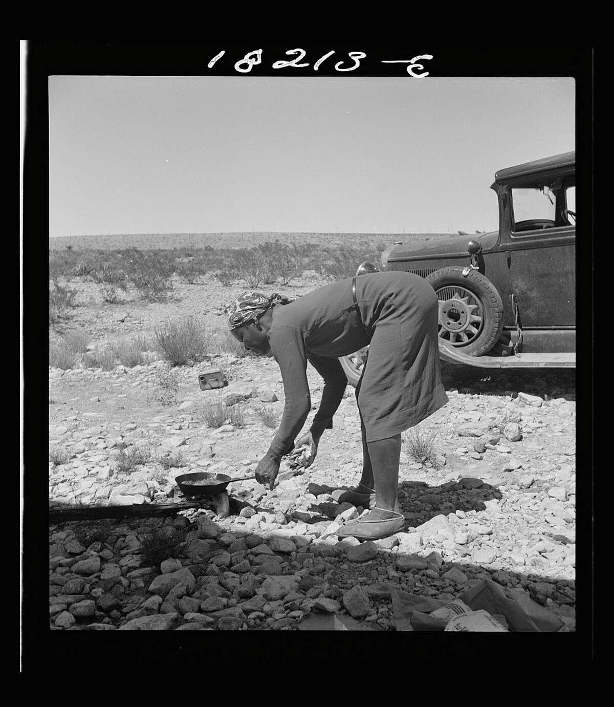 A young woman cooking breakfast on the outskirts of El Paso, Texas, said,