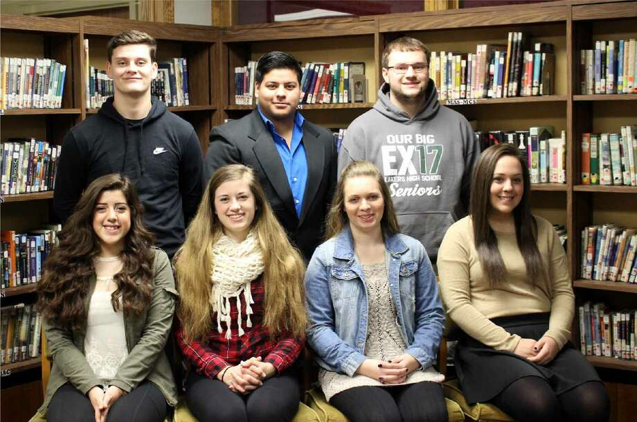 The senior court members include, front row (from left), Faith Wignall, Michelle Schulze, Erin LeJeune and Monica Jobes; and back row, Zack Gertenberger, Jose Mendoza and Josh Yoder. Missing from the photo is Brady Harcourt. (Submitted Photo)