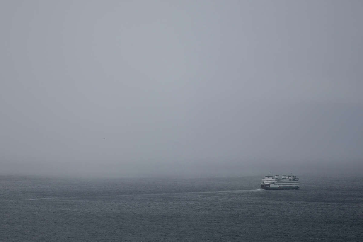 Seattle has had just nine days since October with 30 percent cloud cover or less. And the rain? Don't even get us started. Pictured: A ferry heads into a brief rainstorm on Thursday afternoon, Feb. 9, 2017.