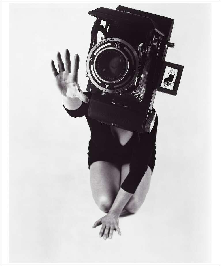 "Lynn Hershman Leeson, ""Reach,"" from the series ""Phantom Limb"" (1986) Photo: Lynn Hershman Leeson, Anglim Gilbert Gallery"