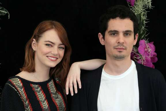 "Lead actress Emma Stone and writer-director Damien Chazelle, here at the 73rd Venice Film Festival last August, are favorites to join the ranks of Oscar winners for their work on ""La La Land."" Photo by Annalisa Flori/Getty Images."