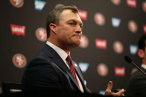 John Lynch during a news conference at Levi's Stadium on Thursday, Feb. 9, 2017 in Santa Clara, Calif. Lynch was introduced as the new San Francisco 49ers general manager.